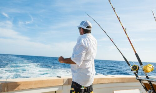 First-timer sports fishing in St. Catherine