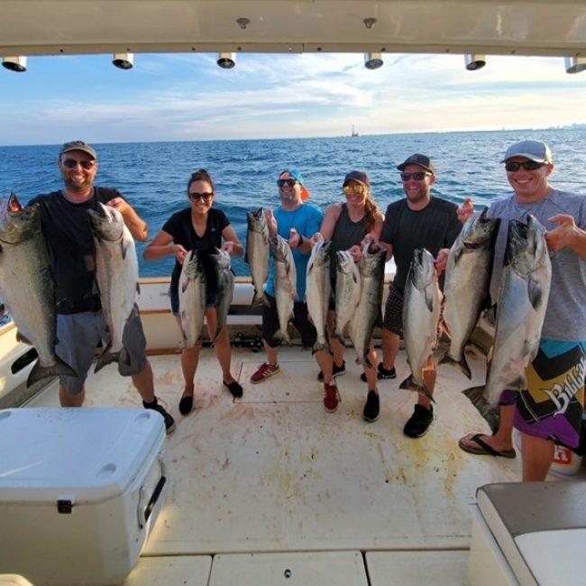family fishing in Niagara